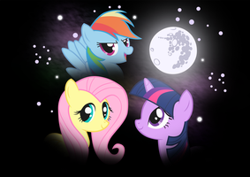 Three Pony Moon by Liggliluff