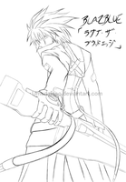 BB:Ragna The Bloodedge Lineart by UmedaIsao