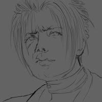 Rufus Final Fantasy (Head Commission) Sketch by miss-mustang