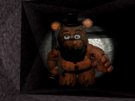 Withered Freddy in the Vents by XminecraftmarioX