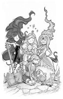 Adventure Time girls! by MichaelDooney
