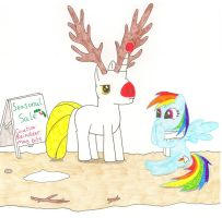 Floyd the red nosed Unicorn by Greattie