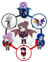 Assorted Chibis - AU Hexafusion 13 by Dragon-FangX