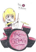 Ruby the drummer by derpykittykat