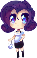 Humanized Rarity chibi by pekou