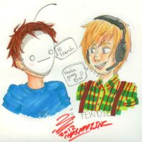 Cry and Pewdiepie by Timid-Appleton