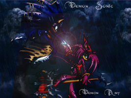 Demon SonAmy Background by Flip0024