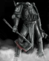 40k Word Eater grayscale by teshok