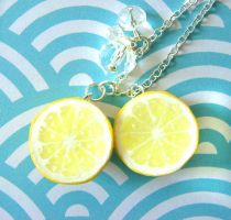 Lemon Halves Necklace by KawaiiCulture