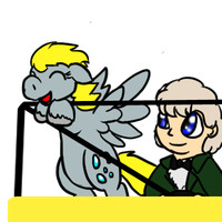 Derpy and the Third Doctor by Usagi-Zakura