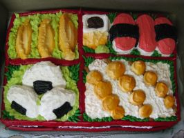 Bento Box Birthday Cake by GoddessYsaria