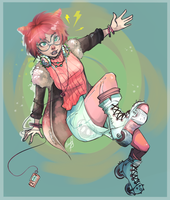 Roller Bladin by KlownCat