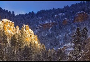 Canyon's Winter Majesty by FramedByNature