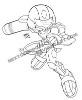 Hybrid as Samus Aran by LeatherRuffian