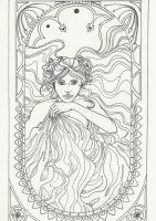 Jugendstil design (non colored) by elejnara