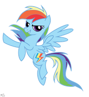 Rainbow Dash gimp art by DubstepPegasister