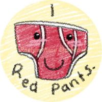 I love Red Pants Button by RaelynnMarie