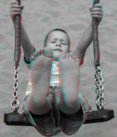 Kid on a Swing 3-D conversion by MVRamsey