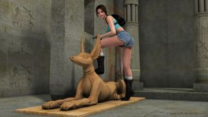 Young Lara in Ruins of Egypt by JpauCroft