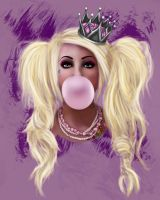 Bubblegum Queen by missimoinsane
