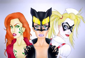 The Ladies of Gotham City by CyanSoul