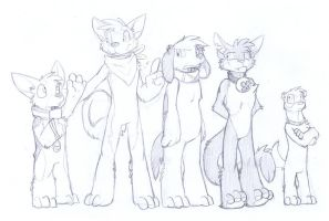 Housepets 3.0 second sketches by RickGriffin