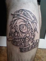 Dead Dreams Skull by OnTheLastRoad