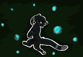 Hollyleaf in the dark forest by Thundercatzgirl