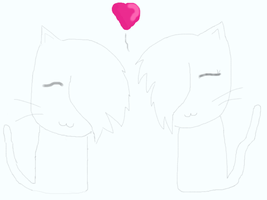 Cat Couple Lineart- FREE!! by MoonstarOfMoonClan10