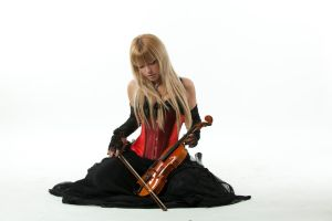 Tanit-Isis Red Corset Violin by tanit-isis-stock