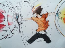 X-burner - Tsuna by AdrianoL-Drawings