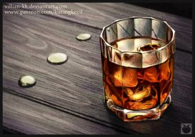 Whisky in Glass - colored version by Villian-KucingKecil