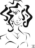 Curly Haired Lady by phantomonex