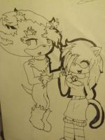 Mephiles and Fruity- Sharpie by Tailmouth-Cupcake