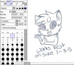 Pencil Brush Settings for Paint tool sai by x-AL3X