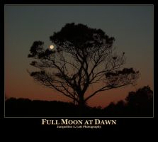 Full Moon at Dawn by Isquiesque