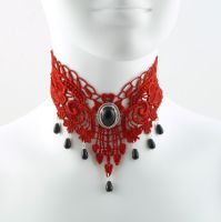 Red Vamp Choker by Lincey