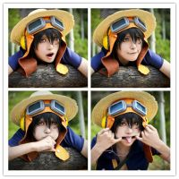 one picec-strong world-luffy by deicn911