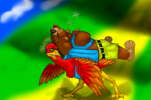 Kazooie and Banjo by TheDragonInTheCenter