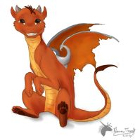lil red baby dragon by DawnFrost