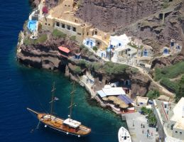 Greece - Port of Santorini by AgiVega