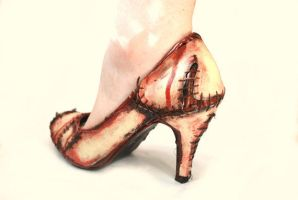 Zombie Shoes by LouiseValerie
