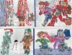 Christmas Cards set1 by Star10