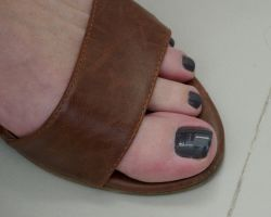 Rica's Dark Brown Toes in Strappy Sandal 3 by Feetatjoes