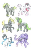 Team Gemstone: pony forms by debsie911