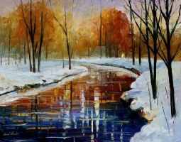 The Energy Of Winter by Leonid Afremov by Leonidafremov