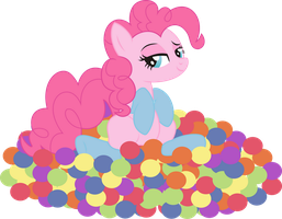 Pinkie Pie playfully... PNG by leopurofriki