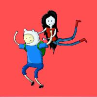 Finn and Marceline by the0ne1