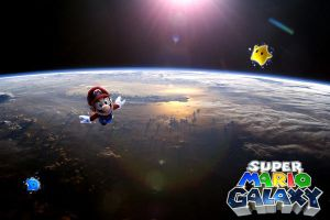 Mario Galaxy Wallpaper by icekirbyixi