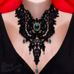 Absinthe Venezia Lace Choker by ArtOfAdornment